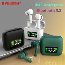 J5 TWS بلوتوث 5.2 سماعات اللمس سماعات لاسلكية سماعات إلغاء الضوضاء الرياضة سماعة الألعاب PK I12 للهاتف أندرويد