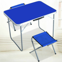 Outdoor Folding Table Camping Table and Chair Set Portable Picnic Table Steel Pipe Aluminum Alloy Material Durable Desk