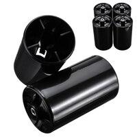 4 قطعة أسود جديد محول البطارية حالة AA 2A إلى D حجم محول البطارية حامل نوع LR20