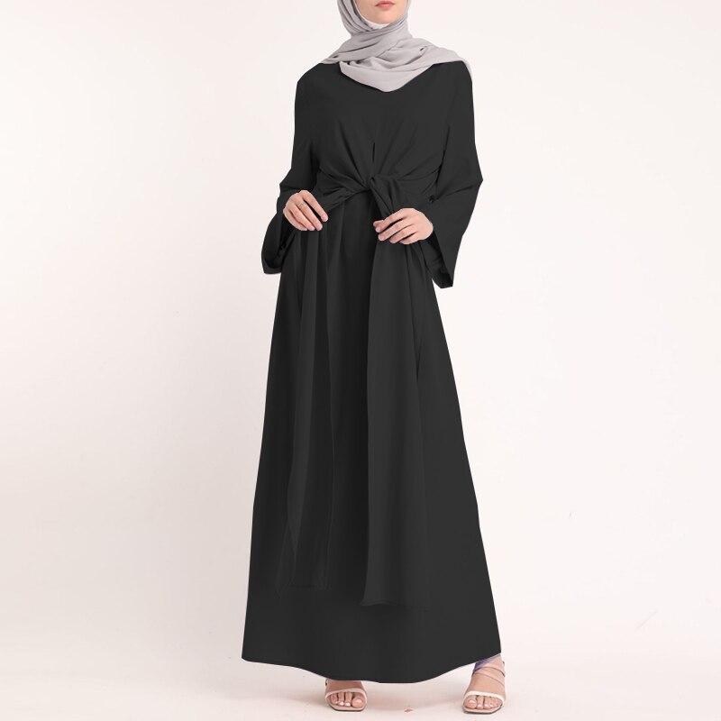 ZANZEA Muslim Dresses Eid Mubarak Kaftan Dubai Abaya Turkey Fashion Hijab Dress Islam Clothing Maxi Sundress For Women Vestidos 9