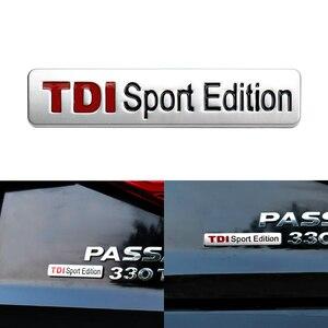 Emblem Trunk Sticker for VW Volkswagen Passat B6 B7 B5.5 Golf Jetta Tiguan Skoda Octavia A5 TDI Sport Edition Emblem Sticker