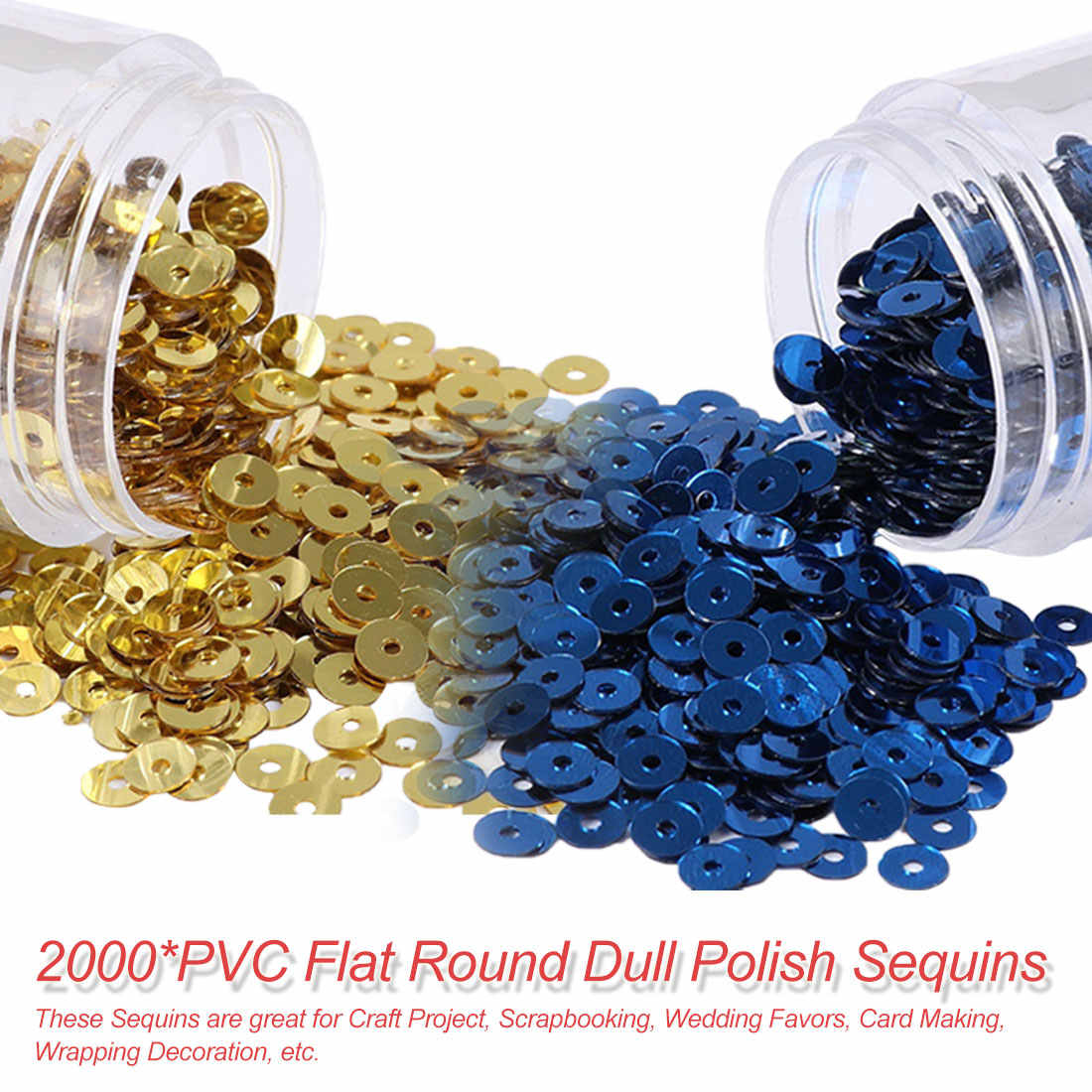 Women Garments Accessories 2000Pcs(10g) 4mm Matting Sequin PVC Flat Round Dull Polish Sequins Paillettes Sewing Wedding Craft