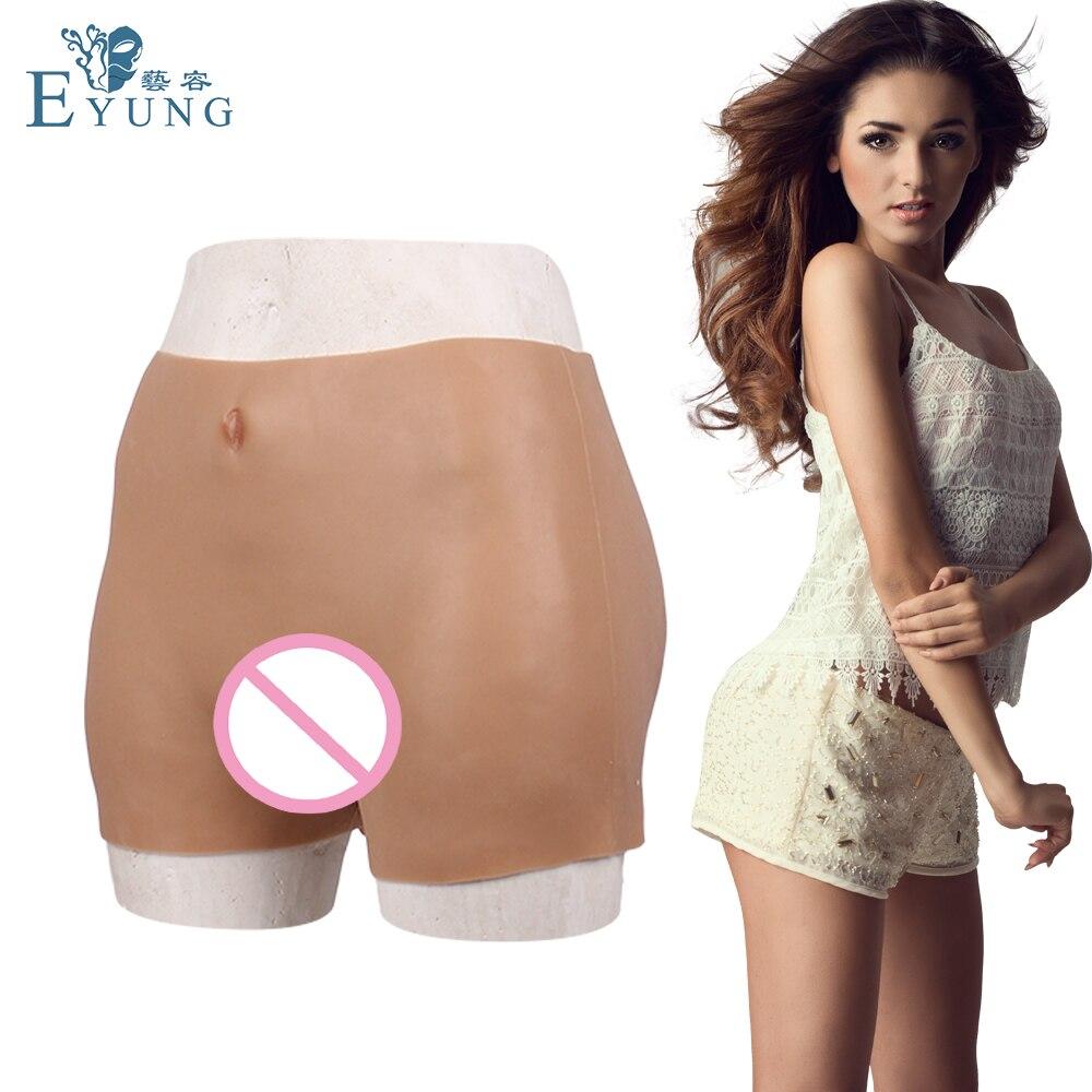Eyung Silicone artificiel pénétrable faux vagin culotte avec Tube uriné pour crosscommode transgenre taille 70-100CM pantalon