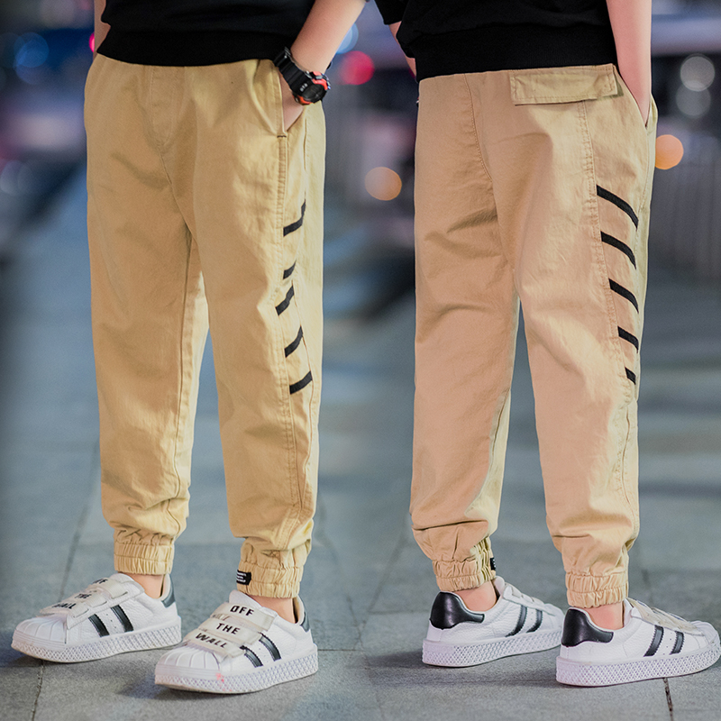 Kids Boys Pants Child Children Joggers Pants Toddler Side Stripes 2019 Autumn Fall Solid 3 to 13 Years