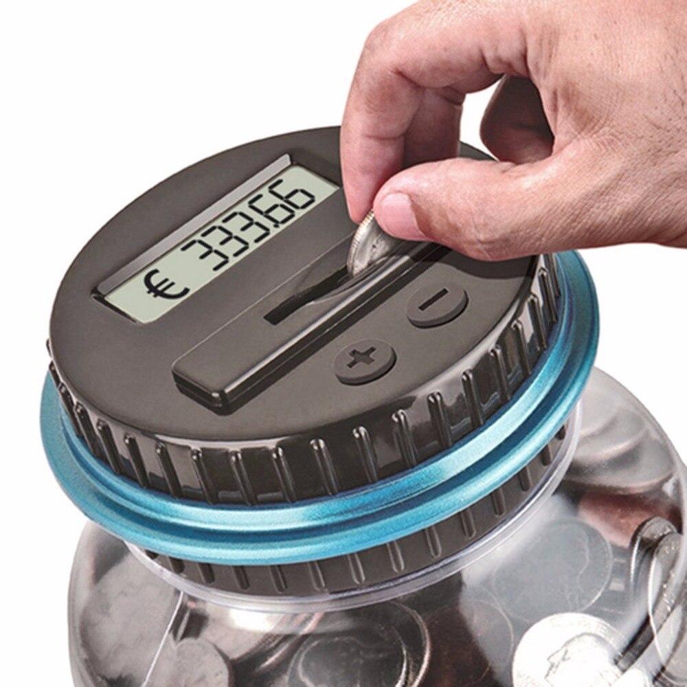 Image 2 - Pantalla LCD de tamaño portátil, conteo Digital electrónico, Banco de monedas, caja de ahorro de dinero, tarro, caja de contador, mejor regalo, DropshippingCajas de dinero   -
