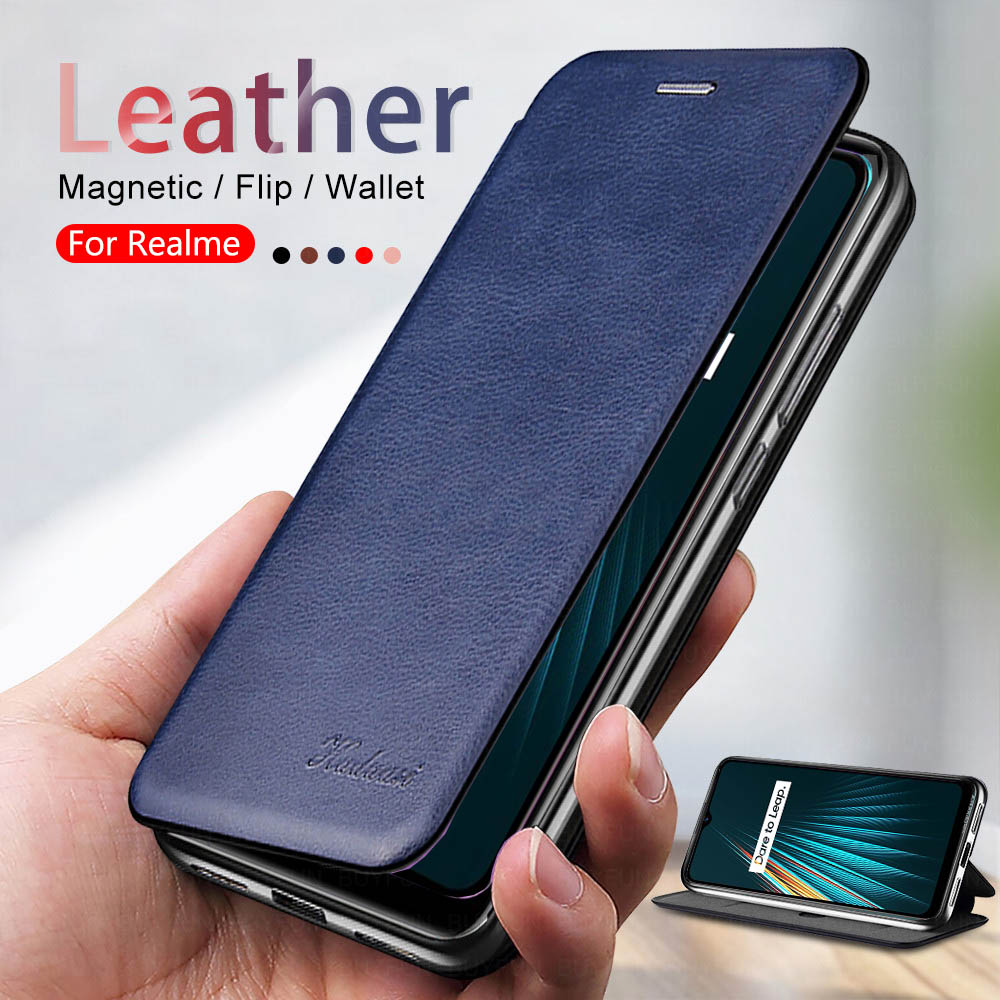 <font><b>case</b></font> realme 5i Leather Magnetic Flip <font><b>Cases</b></font> For <font><b>oppo</b></font> <font><b>a5</b></font> a9 <font><b>2020</b></font> <font><b>case</b></font> cover real me 5i 6 x2 pro realme6 pro stand Book phone Coque image
