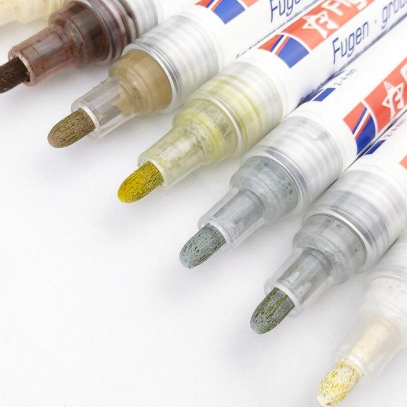 100pcs Tegel Kloof Reparatie Kleur Pen Witte Tegel Refill Grout Pen Waterdicht Mouldproof Vullen Agenten Verf Cleaner groothandel - 6