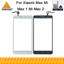 Axisinternational For Xiaomi Max Mi Max 1 Mi Max 2 Glass Panel Outer Lens Front Touch Screen White/Black For Mi Max Touch Panel