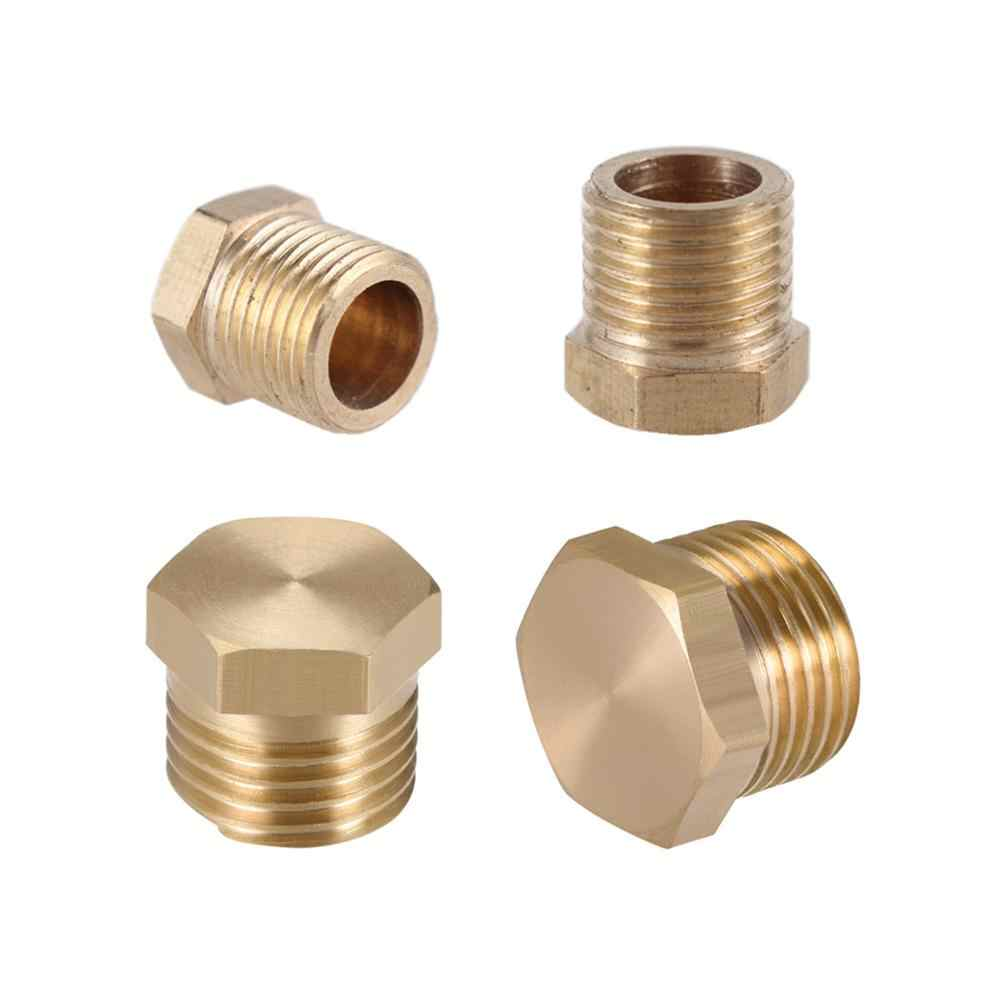 "1/8 ""1/4"" 3/8 ""1/2"" Bsp Buitendraad Messing Pijp Externe Hex Hoofd Messing End Cap Plug fitting Coupler Connector Adapter Koper"