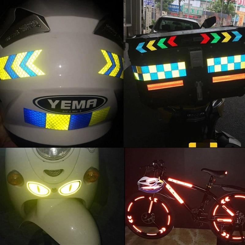 Стрелка светоотражающая лента предупреждение об опасности Предупреждение Липкая лента с отражателями Стикеры для грузовика мотоцикла велосипеда, автомобиля для укладки волос