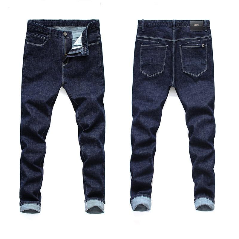 2018 Autumn And Winter New Products Pure Cotton Elasticity Blue Large Size Jeans Men's 28-46big Size Men's JEANS