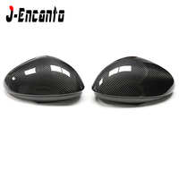 For Alfa Romeo Giulia Carbon Fiber Rear View Mirror Cover Side Mirror Caps Black Finish 2016+ For Romeo Giulia sticker style