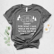 Women Fashion Slogan Graphic T-shirt Goth Shirt SORRY FOR WHAT I SAID Letter Printed Funny Print Short Sleeve Tees