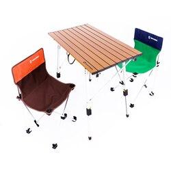 높이 조절 테이블 접이식 실버 데스크 휴대용 캠핑 바베큐 하이킹 여행 야외 피크닉 접이식 AL 초경량 테이블