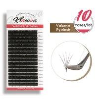Klacuva 0.03 0.10 Soft Silk Individual Eyelashes 10pcs Professional Grafting Eyelash Mega Volume Lash Extension Make up Tools