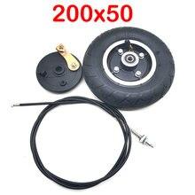 200x50 pneu com linha de freio 120mm tambor freio 8