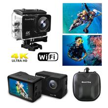 MountDog Sports Action Camera HD 4K WiFi Video Waterproof Remote Control Sports Video Cam 30fps Accessories(China)