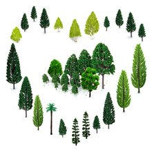 30pcs Mixed Model Trees 1.5-6 inch(4 -16 cm), Ho Scale Trees, Diorama Supplies, Train Scenery, Fake for Pr