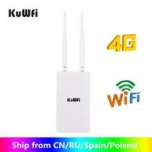 Kuwfi 4g wifi roteador impermeável ao ar livre 4g sim wifi roteador sem fio cpe desbloqueado fdd/tdd cat4 150mbps para câmera ip