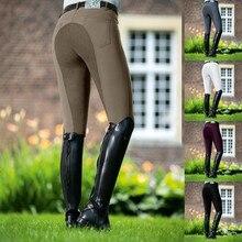 Equestre calças de equitação calças de cintura alta elástico calças femininas calças justas de corrida de cavalos de acampamento correndo escalada pant