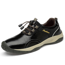New High Quality Leather Men Shoes Outdoor Waterproof Sneakers Fashion Casual Shoes Lace-up Men Loafers Big Size 38-46 цена и фото