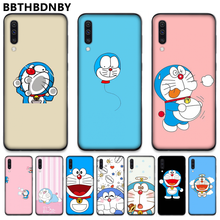 Lucu Kartun Doraemon Silicone Case Coque Shell Ponsel Case untuk Samsung S6 S7 Edge S8 S9 S10 E Plus A10 a50 A70 Note8 J7 2017(China)