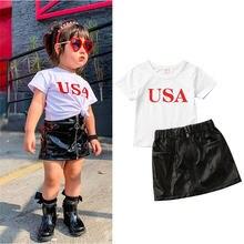 Модные комплекты одежды для маленьких девочек 2020 год футболки