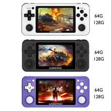 Nowa konsola do gier Anbernic RG351P wibracja Handheld klasyczne gry przenośny Mini odtwarzacz wideo 3 5 calowy ekran 64 + 128G tanie tanio vanpower CN (pochodzenie) Powkiddy RG351P handheld game console 3 5-inch OCA full-fit screen IPS 320*480 RK3326 quad-core 1 5GHz