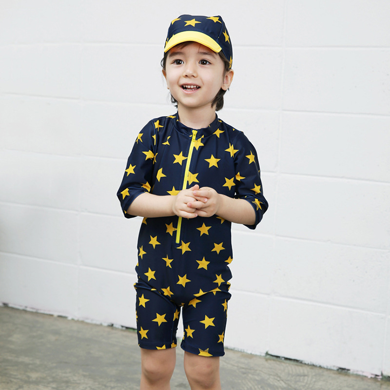 KID'S Swimwear BOY'S Five-pointed Star One-piece Swimwear South Korea Boy Surf Wear CHILDREN'S Small CHILDREN'S Baby Swim Bathin