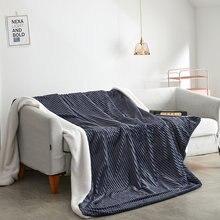 Couverture de genou sur le canapé en velours magique et couvre-lit pour la maison, couverture polaire de couleur unie sur le lit, housse de couette douce
