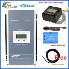 Epever 50A 60A 80A 100A MPPT שמש מטען Controller 12V 24V 36V 48V אוטומטי תאורה אחורית LCD שמש רגולטור תמיכה WIFI MT50 מרחוק