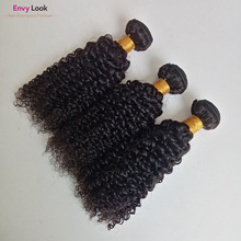 3/4-Bundles-Machine Human-Hair for Black-Women Envy-Look Curly Afro Double-Weft Remy