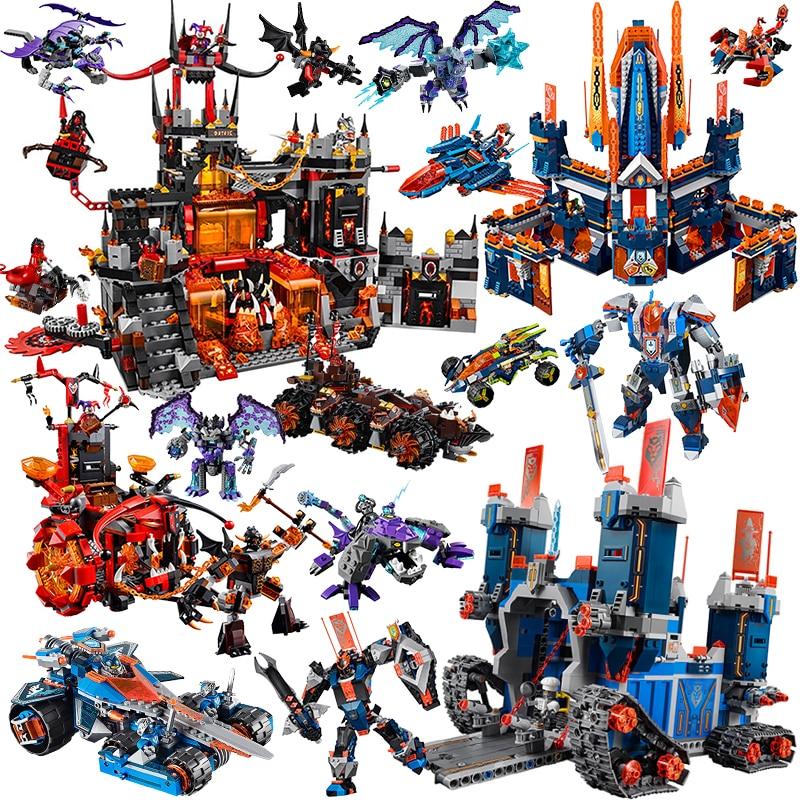 Nexus Series   Element Knights Knighton Castle Blocks Educational Bricks Toys For Children Gift