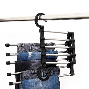 Scarf Hanger Stainless Steel Rack Durable Hanger Pants Hanger ABS Retractable Clothes Plastic Closet White Multifunctional