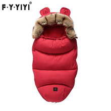 Baby Sleeping Bag Infant Stroller Sleeping Bag Spring Winter Warm Sleepsacks Robe 0-24 Months Infant Thick Warm Envelopes thick baby stroller sleeping bag winter warm newborn foot cover infant windproof sleep bag stroller sleepsacks pram cushion