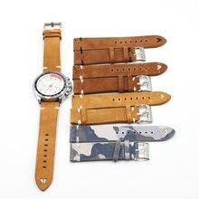 Ремешок замшевый для наручных часов камуфляжный ретро браслет
