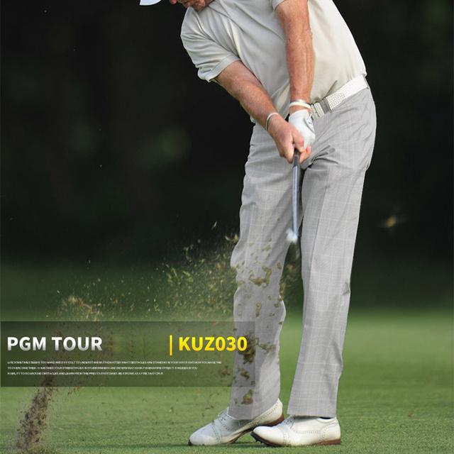 Men Plaid Full Long Pant Ultra-thin Straight Breathable Clothes Pantalon Golf