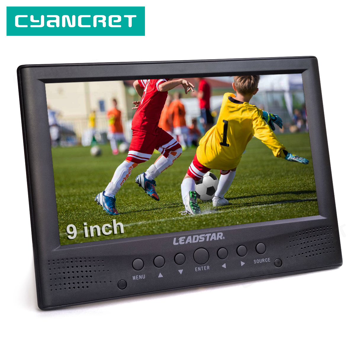 LEADSTAR DVB-T2 Portable TV ATSC Tdt 9 Inch Digital And Analog Television Front Speaker Mini Small Car TV Support H.265 AC3