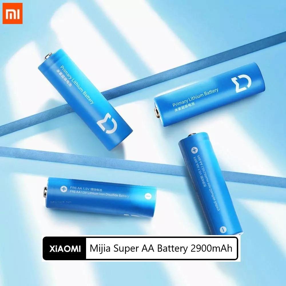 Xiaomi Mijia Super AA bateria 2900mAh litowo żelaza baterii 4 sztuk trwałe 1.5V duża pojemność odporne na zimno baterii