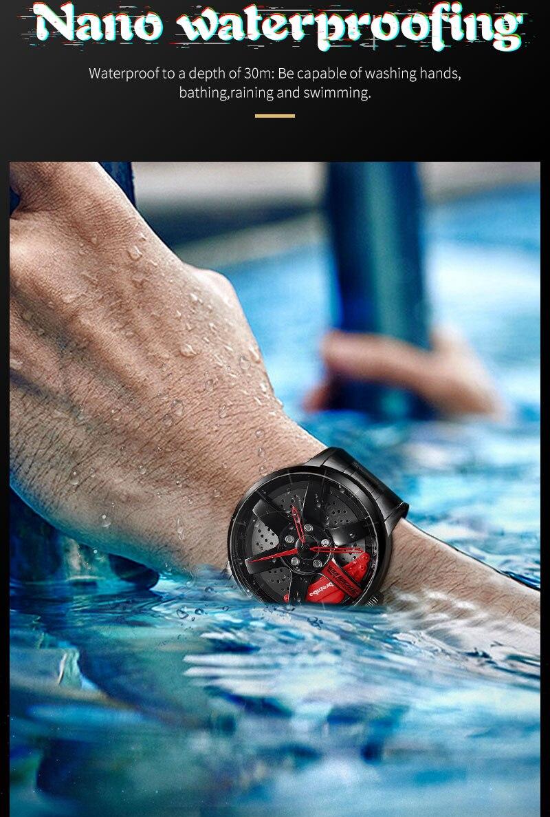 H2877d6f9320f446182d498534d0e9843Q NEKTOM men watch classic simple fashion waterproof sport watch men's quartz mesh with rim hub watch run quartz men quartz watch