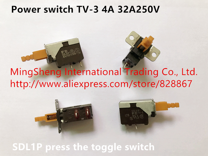 Original New 100% Power Switch TV-3 4A 32A250V SDL1P Press The Toggle Switch