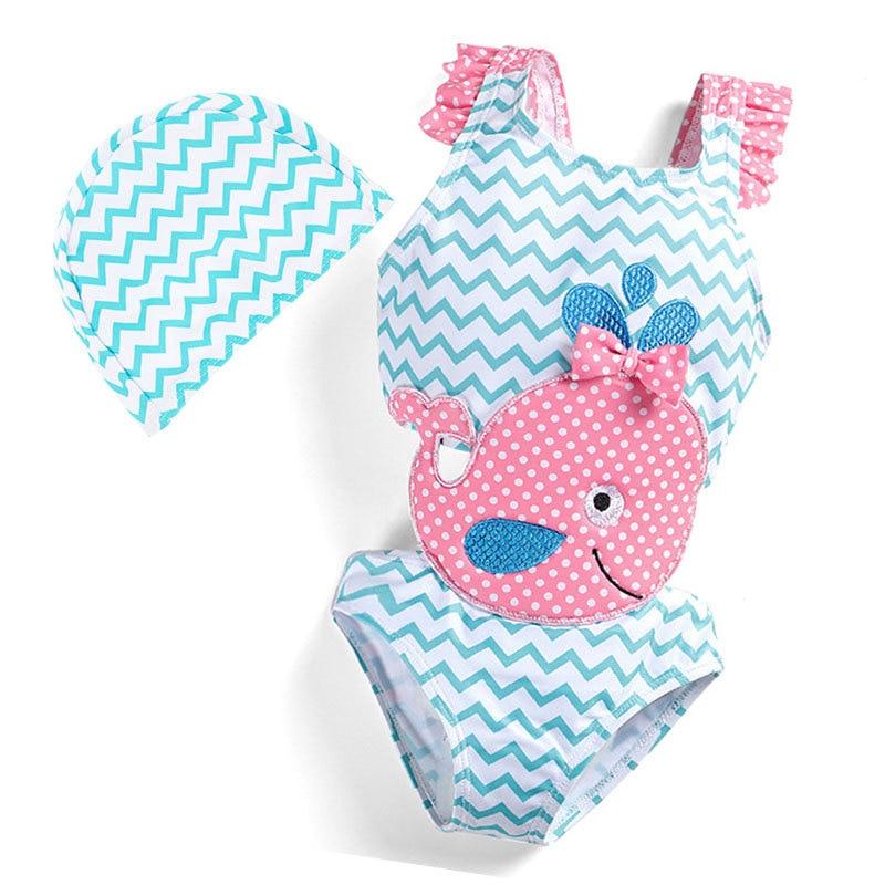 Beach Wear KID'S Swimwear Whale Big Boy Quick-Dry Cute Siamese Swimsuit Hot Springs Swimwear Manufacturers