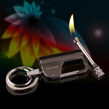 dfsa Encendedor Metal Fiery Permanent Matches Keychain Flint Lighter Compact Waterproof Free Fire Starter Kerosene Camping Outdoor Survival Tool