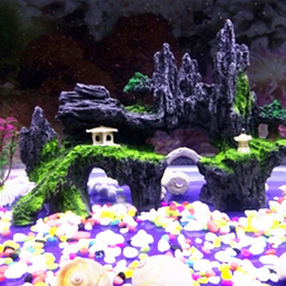 HobbyLane réservoir de poissons en pierre de roche aménagement paysager Aquarium décoration rocaille montagne cachette grotte fournitures pour animaux de compagnie