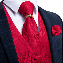 Мужской жилет с галстуком классический свадебный смокинг Пейсли