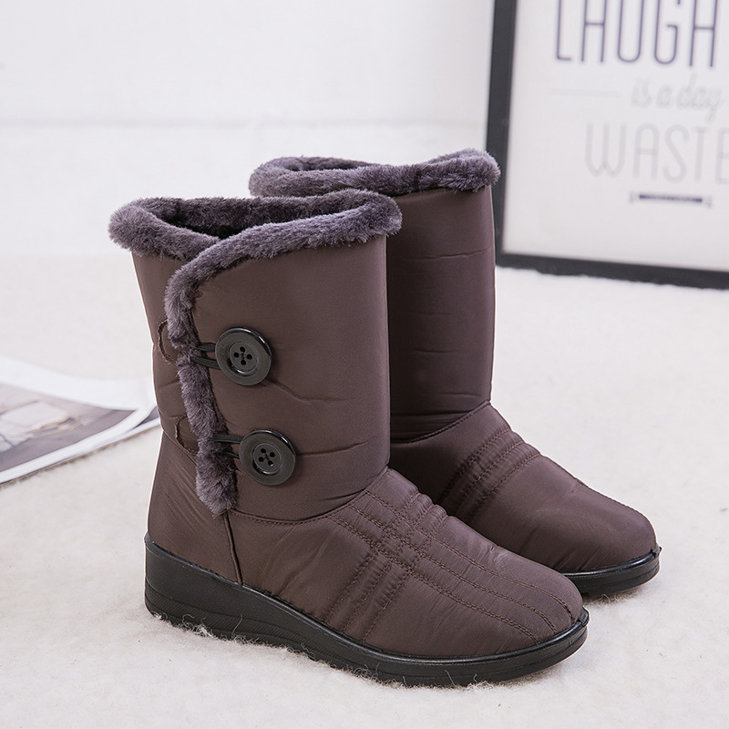 1 Pair Shoes Women Snow Boots Warm Shoes Thicken Anti-slip Waterproof for Outdoor Winter zapatos de mujer K-BEST image