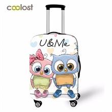 Suitcase Protector Luggage Travel High-Elastic Cute New Dust-Proof Owl-Pattern 18''-32''girls