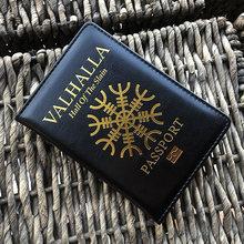 Vikings Valhalla Passport abdeckung Abdeckung vikings Helm von Horror Aegishjalmur reisepass Geschenk für ihn Passport abdeckung Reise