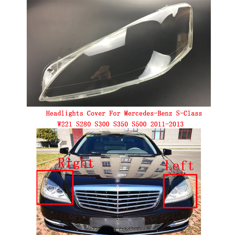 Car Headlight Headlamp Lens Auto Shell Cover For Mercedes-Benz S-Class W221 S280 S300 S350 S500 2011-2013