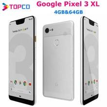 Google Pixel 3XL orijinal Unlocked GSM 4G android cep telefonu 6.3 ''12.2MP ve çift 8MP Octa çekirdek Snapdragon 845 4GB ve 64GB NFC